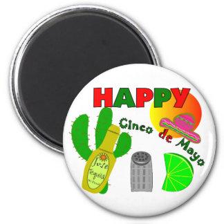 """Imã """"Cinco limão do de Mayo feliz"""", Tequila & design"""