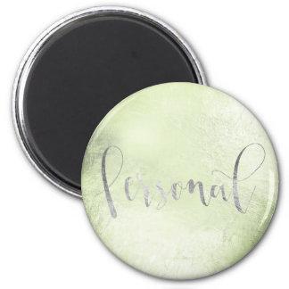 Imã Cinzas de prata do verde semanal pessoal da