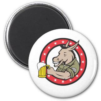 Imã Círculo do bebedor de cerveja do asno retro