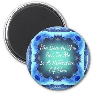 Imã Citações da reflexão da beleza do verde azul da