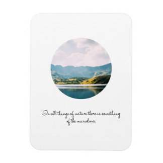 Ímã Citações inspiradas da foto do círculo da montanha