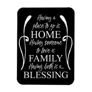 Ímã Citações inspiradas sobre a casa - família -