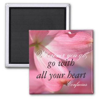 Imã Citações inspiradores inspiradas do coração de