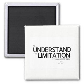 Imã CITAÇÕES: Lao Tzu: Limitação das coisas