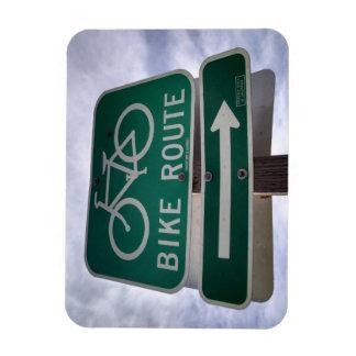 Ímã clássico do sinal da rota da bicicleta