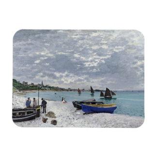 Ímã Claude Monet | a praia em Sainte-Adresse