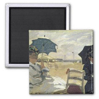 Imã Claude Monet | a praia em Trouville, 1870