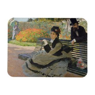 Ímã Claude Monet - Camilo Monet em um banco