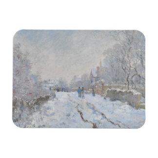 Ímã Claude Monet - cena da neve em Argenteuil