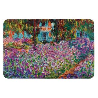Ímã Claude Monet - íris em belas artes do jardim de