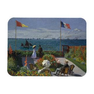 Ímã Claude Monet - jardim em Sainte-Adresse