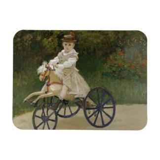Ímã Claude Monet - Jean Monet em seu cavalo do