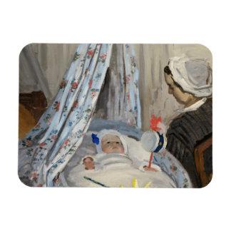 Ímã Claude Monet | o berço, Camilo com filho Jean