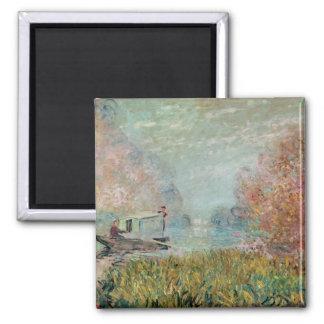 Imã Claude Monet | o estúdio do barco no Seine, 1875