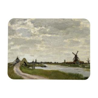 Ímã Claude Monet - os moinhos de vento aproximam