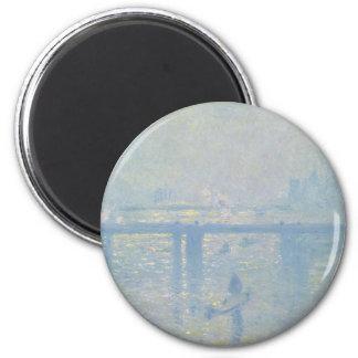Imã Claude Monet - ponte transversal de Charing. Arte