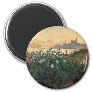 Imã Claude Monet - Riverbank florescido Argenteuil