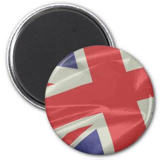 Imã Close up de seda da bandeira de Union Jack