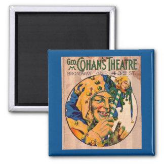 Imã cobrir do playbill do teatro de Cohan do 1920