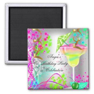 Imã Cocktail colorido da festa de aniversário