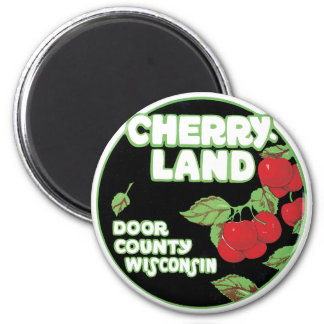 Imã Coisas efêmeras do vintage, Cherryland Door County