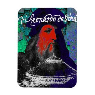 Ímã Colagem dos meios mistos do gênio de Leonardo da