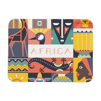Ímã Colagem simbólica africana da arte