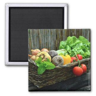 Imã Colheita vegetal da acção de graças em uma cesta
