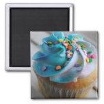 Ímã colorido da fotografia do cupcake imãs de geladeira