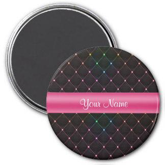 Imã Colorido preto cor-de-rosa acolchoado chique