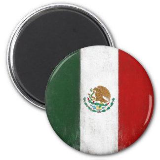 Ímã com a bandeira afligida de México Ímã Redondo 5.08cm
