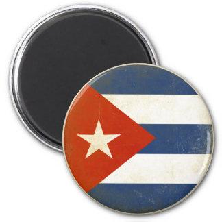 Ímã com a bandeira afligida do vintage de Cuba Ímã Redondo 5.08cm
