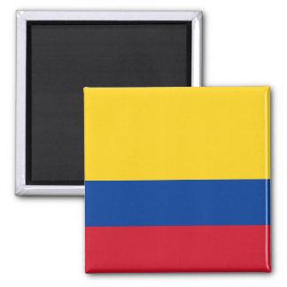 Ímã com a bandeira de Colômbia Ímã Quadrado