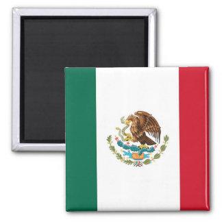 Ímã com a bandeira de México Ímã Quadrado