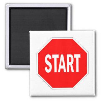 Imã comece a parada do símbolo do sinal de tráfego