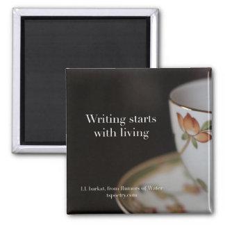 Imã Começos da escrita com o ímã vivo do