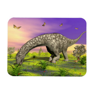 Ímã Comer do dinossauro do Argentinosaurus - 3D rendem
