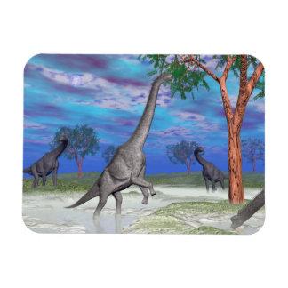 Ímã Comer do dinossauro do Brachiosaurus - 3D rendem