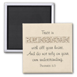 Imã Confiança na escritura Magnet~Gold de Jehovah…