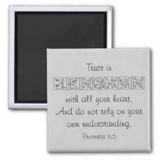 Imã Confiança na escritura Magnet~Silver de Jehovah…