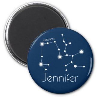 Imã Constelação personalizada do zodíaco do Sagitário