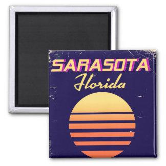 Imã Cópia das viagens vintage dos anos 80 de Sarasota