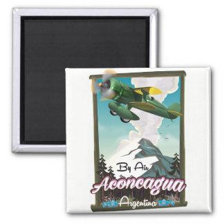 Imã Cópia do poster do vôo do vintage de Aconcagua -