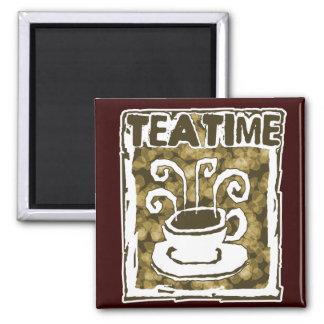 Imã Copo do tempo do chá com vapor