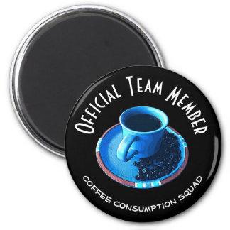 Imã Copo e pires azuis do pelotão | do consumo do café