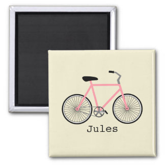 Ímã cor-de-rosa da bicicleta ímã quadrado