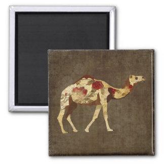 Ímã cor-de-rosa do camelo ímã quadrado