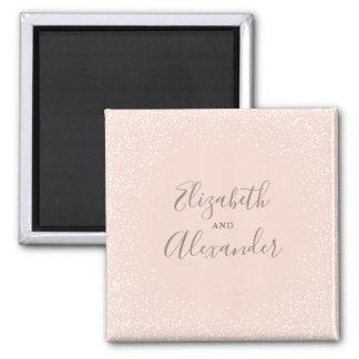 Imã Cora o casamento cor-de-rosa & branco dos confetes