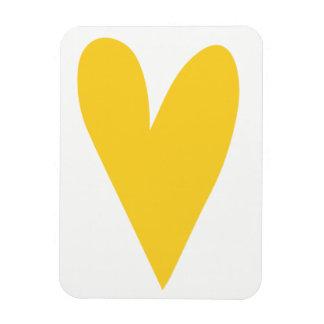 Ímã Coração amarelo