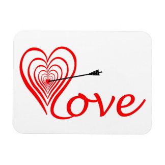 Ímã Coração amor alvo com seta